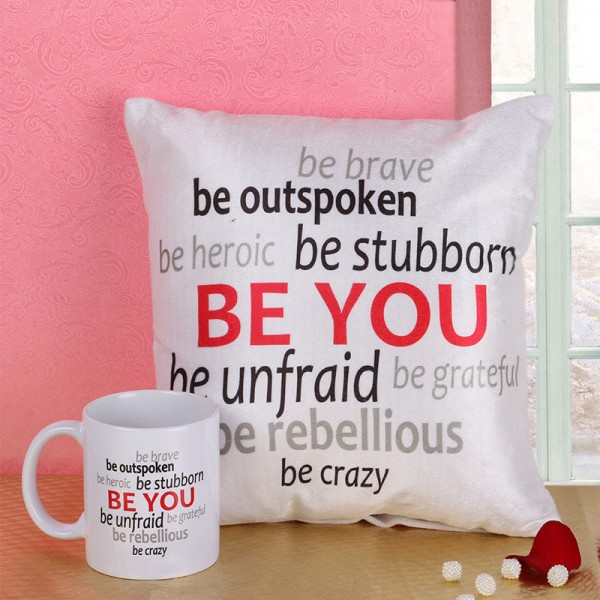Customized mugs and cushions