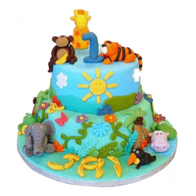 "Plan a Wildlife Themed Birthday Party"" Cakes"