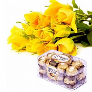 A Bouquet of Roses and Ferrero Rocher