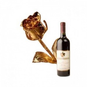 Wine with a Gold Rose