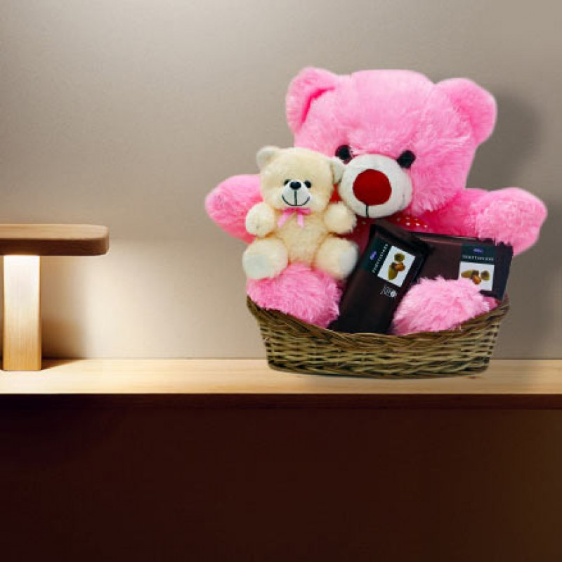 3. Chocolate Basket with a Teddy