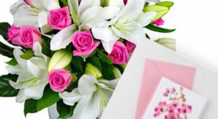 Flowers with personal message card