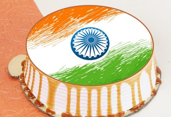 Indian Flag Themed Cake