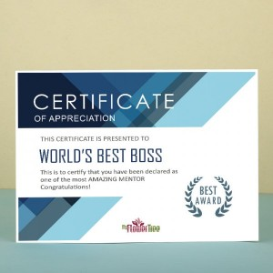 Best Boss Ever Certificate