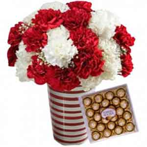 Friend Ship day flower and choclolate combo